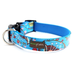 'BLOOM' Laminated Cotton Dog Collars & Leashes