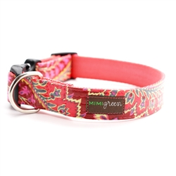 'Sweet Pea' Laminated Cotton Dog Collars & Leashes
