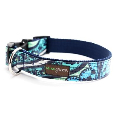'Lark' Laminated Cotton Dog Collars & Leashes