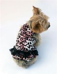 Pink Leopard Movie Star Velvet Tutu Dress