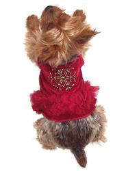 Red Velvet Snowflake Tutu Dress