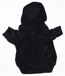 Black Velour Hoodie Pullover