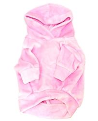 Pink Velour Hoodie Pullover