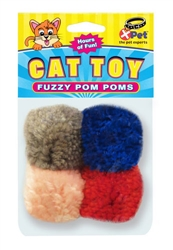 Fuzzy Pom Poms 4 Pack