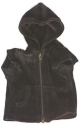 Black Velour Hoodie Front Zip