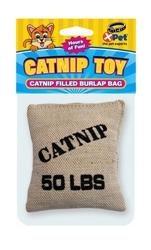 Deluxe Catnip Filled Burlap Bag