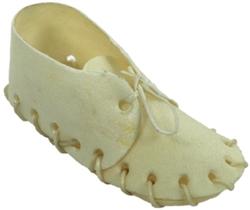 5 inch White Rawhide Shoe