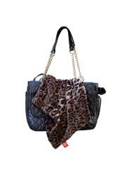Carrier Square Blanket, Dark Brown Leopard