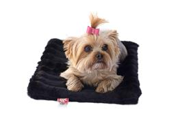Crate Liner, Black Mink All Plush