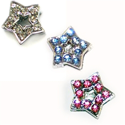 Rhinestone Star Charm - Pack of 5