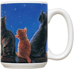 Cats Under Full Moon Mug