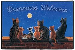 Cats Under Full Moon Doormat