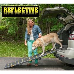 Tri-Fold Extra Wide Reflective Ramp - 200 lbs Capacity