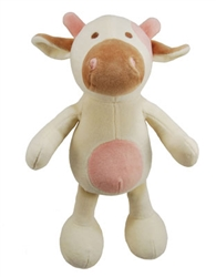 """Simply Fido -10""""  Millie Cow Organic Plush Toy w/ Squeaker"""
