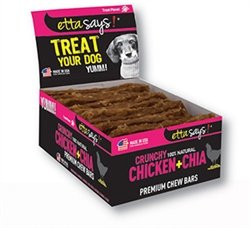 Etta Says Crunchy Premium Chew Bars - Chicken & Chia POS- 12 per box