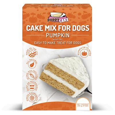 Puppy Cake Mix and Frosting - Pumpkin Spice (Wheat-Free) for Birthdays + More