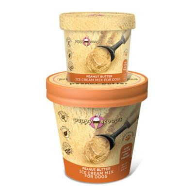 Puppy Scoops Ice Cream Mix - Peanut Butter 4.65 oz and 2.32 oz