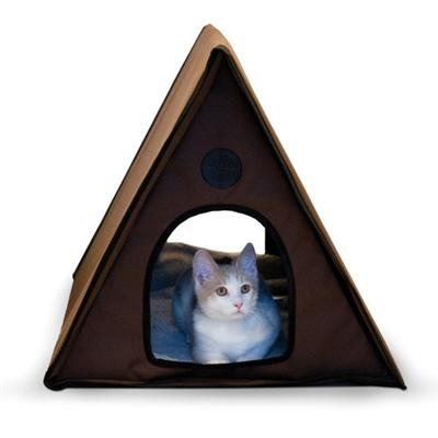 Outdoor Heated Multi-Kitty A-Frame