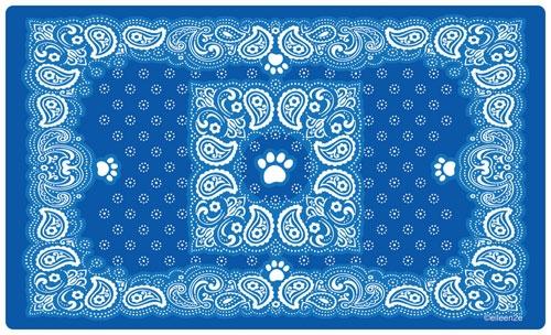 Paisley Bandana Blue Placemat