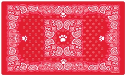 Paisley Bandana Red Placemat