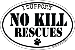 I Support No Kill Rescues Magnet