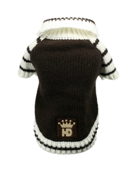 Brown HD Crown Cardigan Sweater