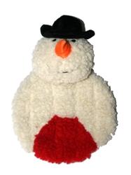 Snowman Krinkle Squeak Toy - single pack