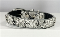 Chrystal Bone Charm Collar - White