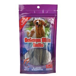 Salmon Skin Rolls for Dogs 50 pc