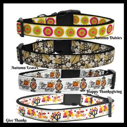 Thanksgiving Collection Nylon Collars & Leads