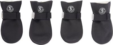 ULTRA PAWS BLACK PAWTECTOR WATERPROOF BOOTS (SET OF 4) WAS $13.75, NEW LOW LOW PRICE JUST $5.51!