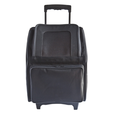 RIO CLassic - Black Rolling Carrier 3 in 1 carrier! Airline Approved Carrier, Back Pack, and Car Seat!!