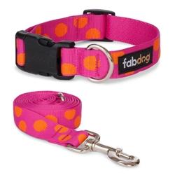 Pink Polka Dot Collars & Leads