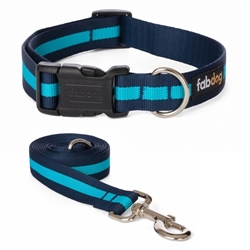Blue Classic Stripe Collars & Leads