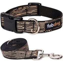 Black Faux Bois Collars & Leads