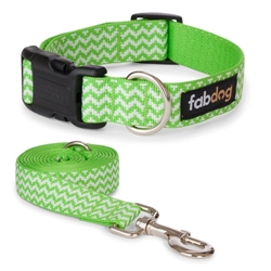 Lime Chevron Stripe Collars & Leads