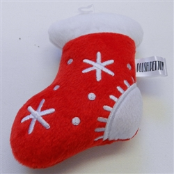 Christmas Stocking Booties Plush Toy with Squeaker