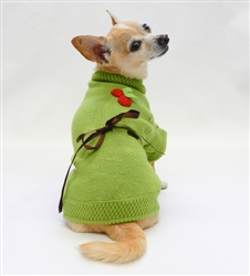 Sweet Cherry Sweater - Green by Ruff Ruff Couture®