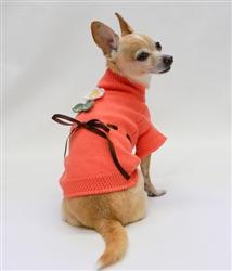 Sweet Sun Flower Sweater - Pumpkin by Ruff Ruff Couture®