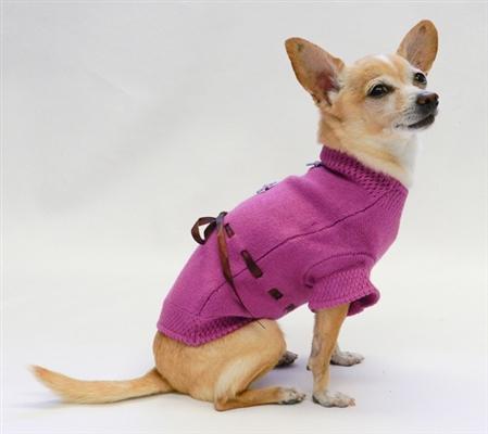 Sweet Daisy Sweater - Purple by Ruff Ruff Couture®