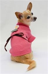 Sweet Sun Flower Sweater - Rose by Ruff Ruff Couture®