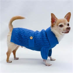 Sailor Collar Navy Cable Knit Sweater by Ruff Ruff Couture®