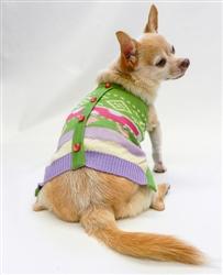 Jacquard Cardigan Knit Sweater by Ruff Ruff Couture®