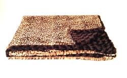 "Home Furnishings Cheetah Luxurious Fur Throw 58""x86"""