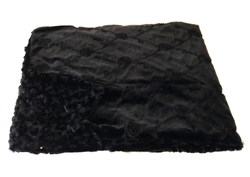 "Home Furnishings Black Roses Luxurious Fur Throw 58""x86"""