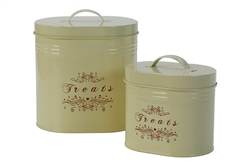 """Treats"" Canister Sets - Includes One Small and One Large Canister"