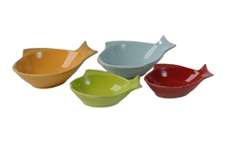 Fish Shape Dishes - 4 Assorted Colors