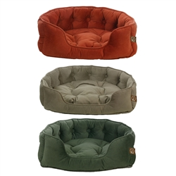 Faux Suede Snuggle Bed