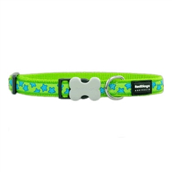 Stars Lime Green - Dog Collars, Leashes, & Harnesses