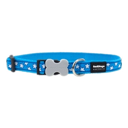 Stars Turquoise - Dog Collars, Leashes, & Harnesses